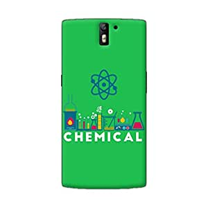 Gobzu Printed Back Covers for OnePlus One - Chemical- Green