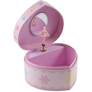 Berkeley designs pink heart shaped musical for Amazon ballerina musical jewelry box