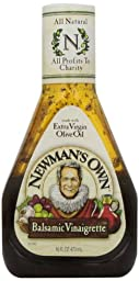 Newman\'s Own Balsamic Vinagrette Dressing, 16 Ounce