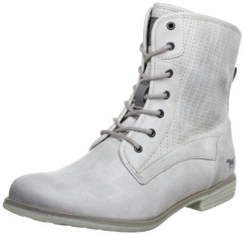 Mustang Schnür-Booty 1134-501-203 Damen Stiefel, Grau (ice 203), EU 41