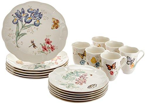 레녹스 버터플라이 메도우 18피스 디너웨어 세트 Lenox Butterfly Meadow Dinnerware Set