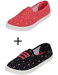 Surplus Women's G5 Pink & Black Sneakers