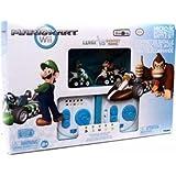 Mario Kart Wii Exclusive Micro R/C Remote Control Interactive Battle Set LUIGI Vs DONKEY KONG