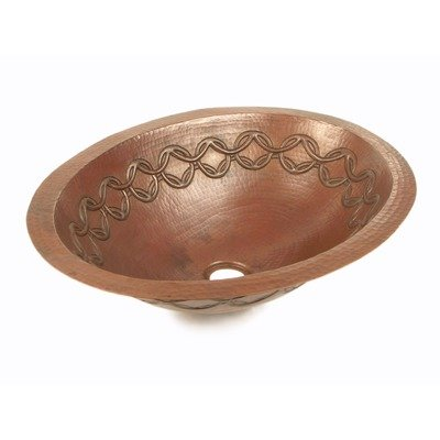 Bolle Oval Copper Undermount Sink Edge: Rolled