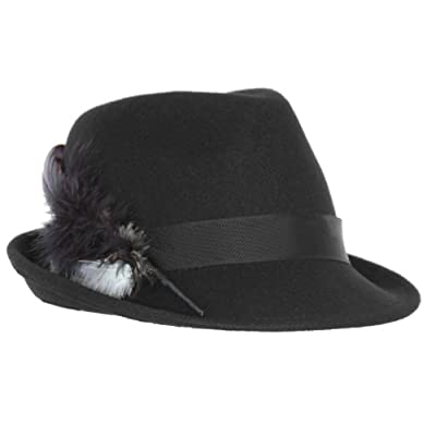 Faustmann Germany Bavarian Hat With Feather In Black-Women