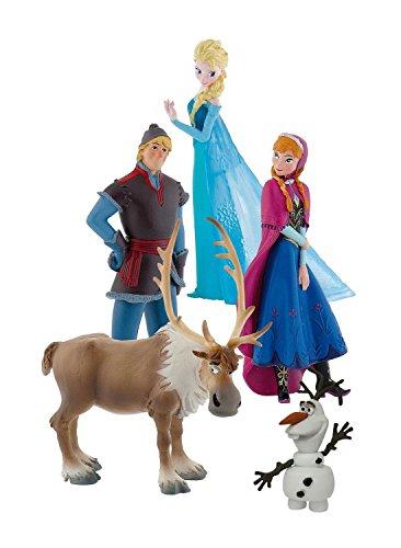 """Bullyland 12216 - Personaggi Film """"Frozen, il Regno di Ghiaccio"""", 5 Pezzi"""