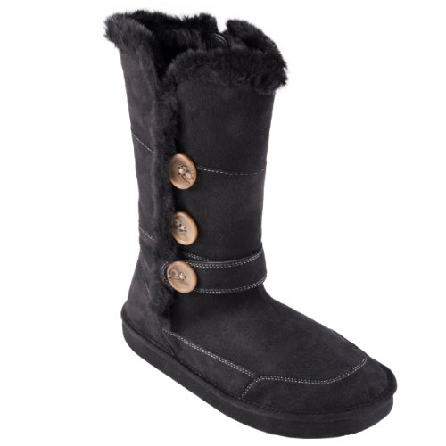 Journee Collection Girls Fur Trimmed Zippered Button Detail Boots
