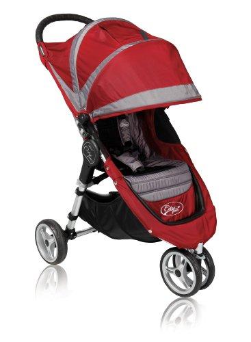 Baby Jogger 2011 City Mini Single Stroller, Crimson/Gray