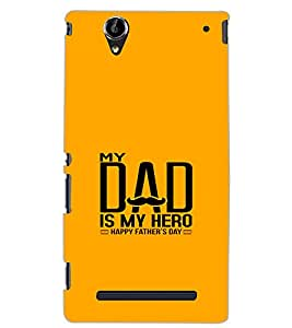 SONY XPERIA T2 ULTRA MY DAD IS MY HERO Back Cover by PRINTSWAG