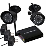 VideoSecu 2.4 GHz Wireless Security Camera Set Night Vision with Audio Microphone for CCTV DVR Home Surveillance System WAH