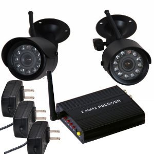 Best Deals! VideoSecu 2.4 GHz Wireless Security Camera Set Night Vision with Audio Microphone for CC...