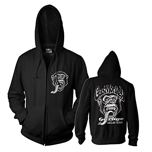 Officially Licensed Merchandise GMG - Dallas Texas Zipped Hoodie (Black), Small