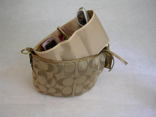 Purse To Go® purse organizer insert transfer liner-ENCLOSED BOTTOM- BUCKET TYPE- Large size (12″L x 6″H x 3.5″W) (Animal Print)