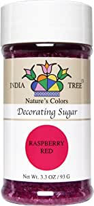 India Tree Nature's Colors Raspberry Red Decorating Sugar 3.3 oz