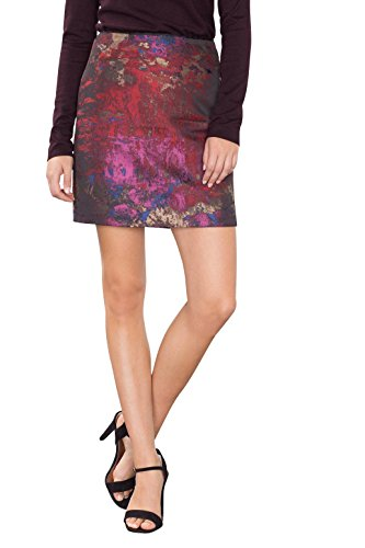 ESPRIT Collection 106Eo1D002, Gonna Donna, Multicolore (Dark Red 2), 38