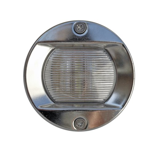 Led Round Stern White Transom Light For Boats - Stainless Steel . Five Oceans