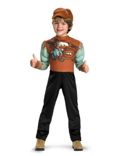 Tow Mater Muscle Toddler Costume 3T-4T - Toddler Halloween Costume