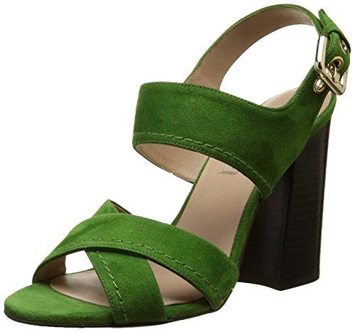 Pura Lopez Ah341 - Sandali Donna , Verde (Vert (Velour Vert)), 39