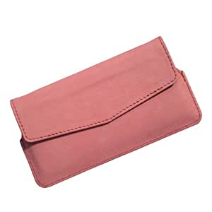 i-KitPit Quality PU Leather Pouch Case With Magnet Closure For LG Optimus L7 (P705) (LIGHT PINK)