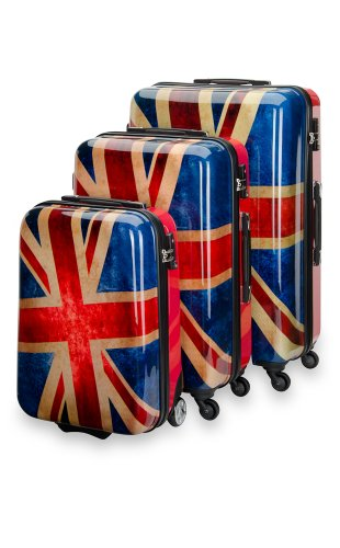 Trolley Koffer Set 3 tlg. - UNION JACK - von