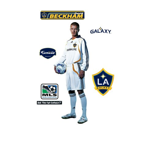 MLS David Beckham Studio Los Angeles Galaxy Player Wall Decal