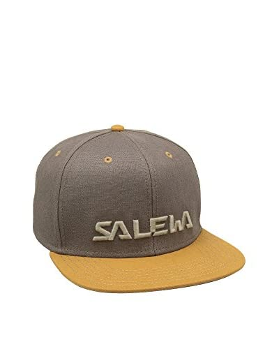 Salewa Gorra Salewa Logo Marrón / Amarillo