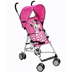 Disney Umbrella Stroller with Canopy (All about Minnie) Stroller is Designed for a Child Up to 40 lbs 3- Point Harness