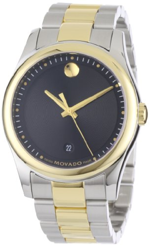 Movado Men's 0606483 Movado Sportivo Two-Tone Black Museum Dial Bracelet Watch