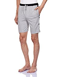 Chromozome Men's Cotton Shorts (S-5428 Grey mel with Blk M)