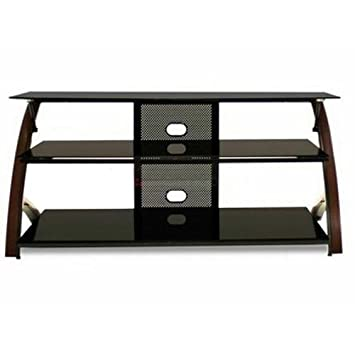 TechCraft LAFY44W 52-Inch TV Stand with LAV8R Mounting System - Solid Oak Walnut