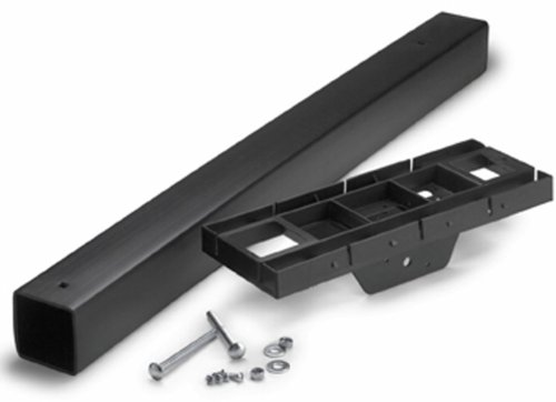 Rubbermaid MB115B Roughneck Mailbox Post and Mounting Kit, Black