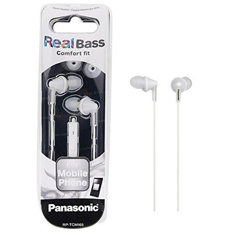 Panasonic RP-TCM165-W Earset Stereo Earphones For Smartphones RPTCM165 White наушники panasonic rp hje118gua вкладыши белый голубой проводные