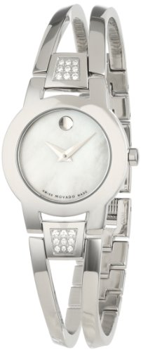 Movado Women's 0606617 Amorosa Stainless Steel White Mother-Of-Pearl Watch