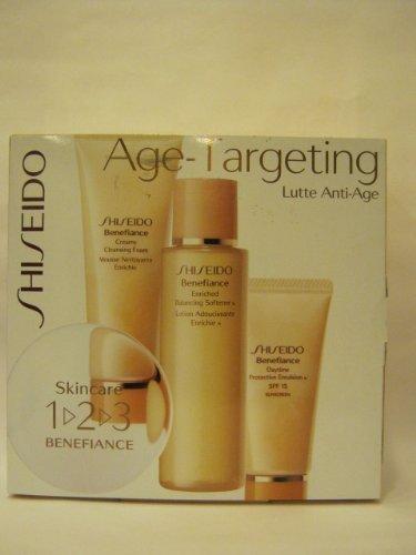 Shiseido-Age-Targeting-3-Pc-the-Skincare-1-2-3-Benefiance-Set-Kit-Creamy-Cleansing-Foam-27oz-Enriched-Balancing-Softener-Lotion-33oz-Daytime-Protective-Emulsion-Spf-15-Sunscreen-1oz