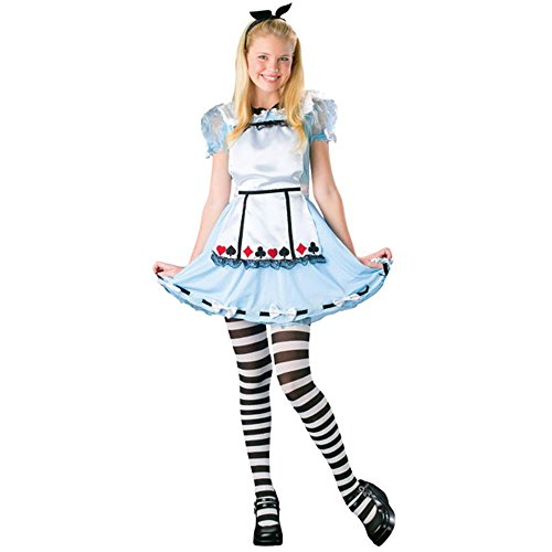 Teen Alice in Wonderland Girl's Halloween Costume (Size: Teen 0-9)