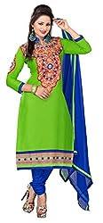 Blissta Green Cotton Salwar Suit Dress Material