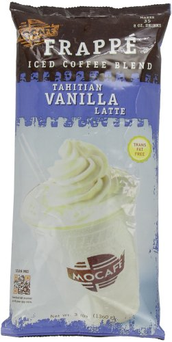 MOCAFE Frappe Tahitian Vanilla Latte, Ice Blended Coffee, 3-Pound Bag