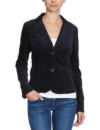 tom tailor damen blazer 35198490070 sporty cord blazer gr 40 blau. Black Bedroom Furniture Sets. Home Design Ideas