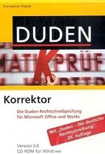 Duden Korrektor 6.0. Windows Vista; XP; 2000: Die Rechtschreibprüfung für Microsoft Office und Works