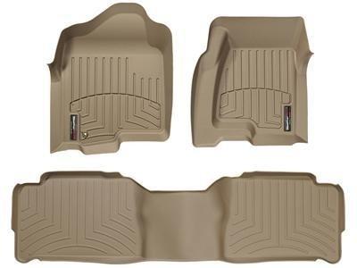 WeatherTech (454851-453242) FloorLiner, Front/Rear, Tan (2014 Dodge Durango Weathertech compare prices)