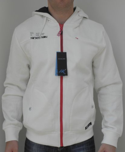 Nickelson Mens NMC273 Ramon Lined Zipped Hoody Ivory Large