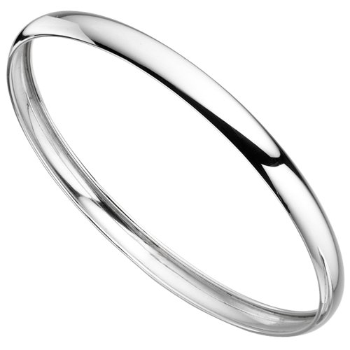 Plain Bangle in Sterling Silver