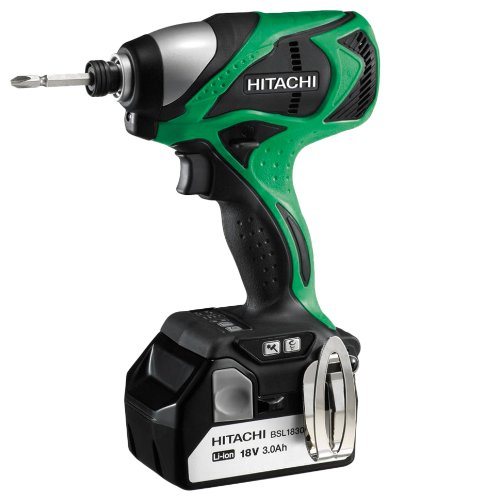 Hitachi WH18DBDL 18-Volt 3.0-Ah Cordless Brushless Lithium-Ion Impact Driver, With 2-Batteries and Charger