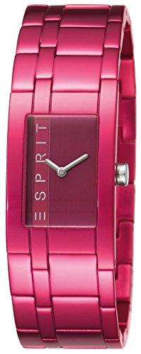 Esprit ES105892008 - Reloj analógico de cuarzo para mujer, correa de aluminio color rosa