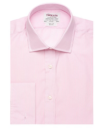 tmlewin-chemise-casual-a-rayures-col-chemise-classique-manches-longues-homme-rose-rose