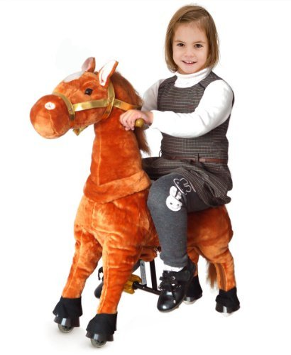 UFREE Horse Action Pony, Walking Horse Toy, Rocking Horse with Wheels Giddy up Ride on for Kids Aged 3 to 5 Years Old - 1
