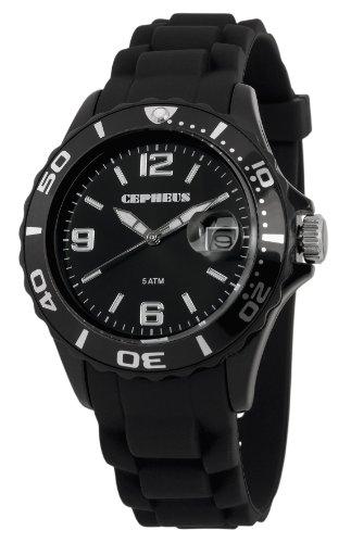 Cepheus - CP603-622-1 - Montre Homme - Quartz Analogique - Bracelet Silicone Noir