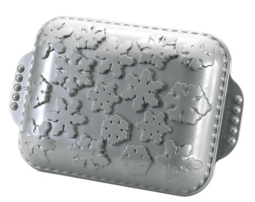 Nordic Ware Silver Snowflakes 11-by-8-1/2-Inch Cake Pan, Platinum - Buy Nordic Ware Silver Snowflakes 11-by-8-1/2-Inch Cake Pan, Platinum - Purchase Nordic Ware Silver Snowflakes 11-by-8-1/2-Inch Cake Pan, Platinum (Nordic Ware, Home & Garden, Categories, Kitchen & Dining, Cookware & Baking, Baking, Cake Pans, Square & Rectangular)