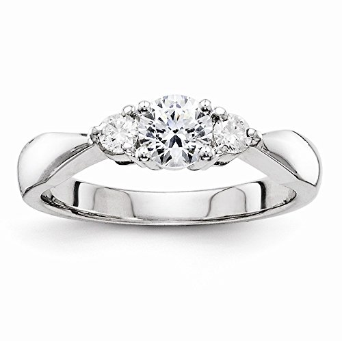 14K White Gold Vs Diamond Engagement Ring Diamond Quality Vs (Vs2 Clarity, G-I Color)