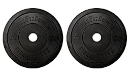 15lb Black Bumper Plate Pair by OneFitWonder - Weightlifting & Strength Training Equipment
